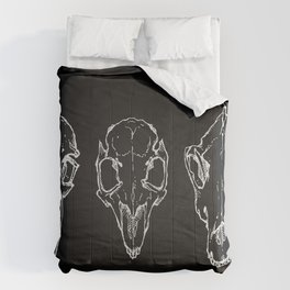 Raven, Rabbit, Wolf - Skulls Comforters