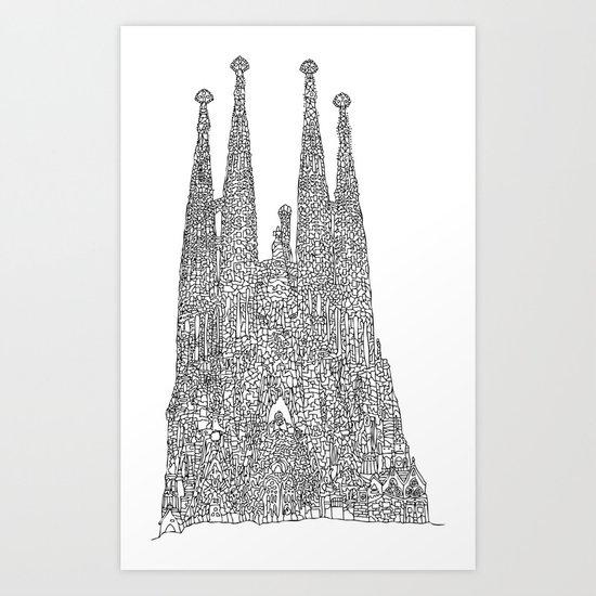 Sagrada Familia Art Print