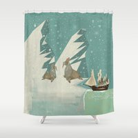 voyage Shower Curtains featuring the voyage by bri.buckley