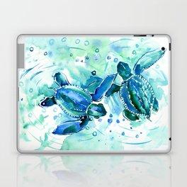Turquoise Blue Sea Turtles in Ocean Laptop & iPad Skin