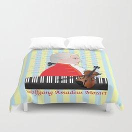 Wolfgang Amadeus Mozart Duvet Cover