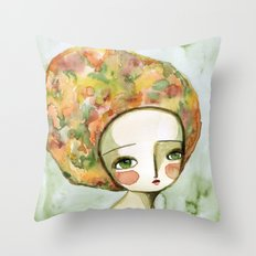 The Muse Of Autumn Throw Pillow