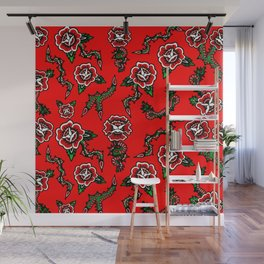 BED OF SNAKE ROSES Wall Mural
