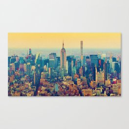 Empire State Building, New York, United States in watercolor Canvas Print