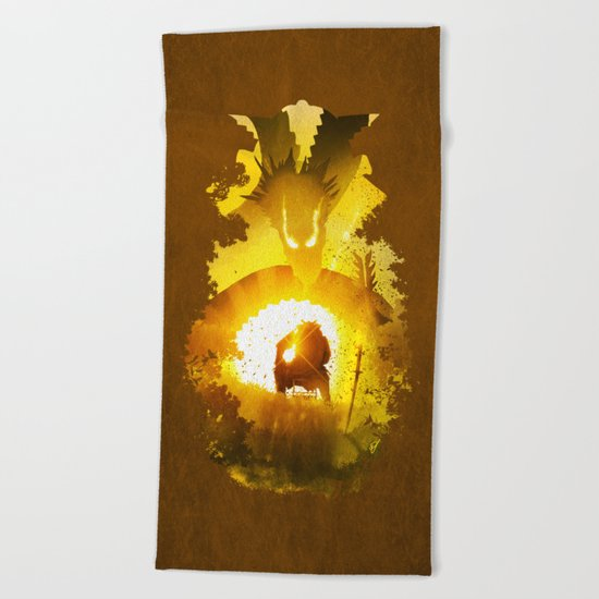 Dragon Emperor Beach Towel
