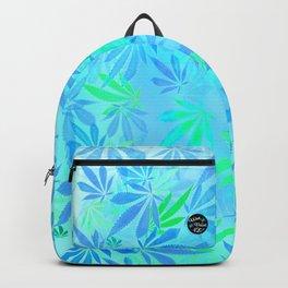 Blue Mint Cannabis Swirl Backpack