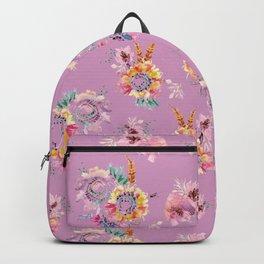 Meadow Flowers on Pastel Purple Backpack