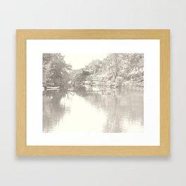Romantic Footbridge Tote Framed Art Print