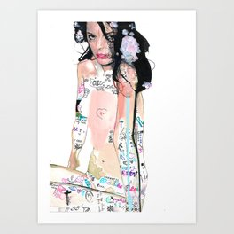Daddy used to love mommy Art Print