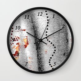 Line of points Wall Clock