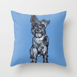 Rupert the Miniature Schnauzer Throw Pillow