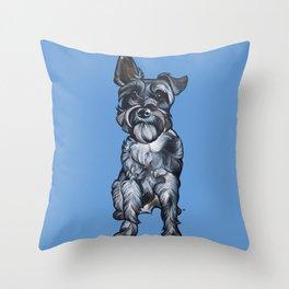 Rupert the Miniature Schnauzer Throw Pillow