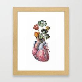 Tulip Heart Framed Art Print