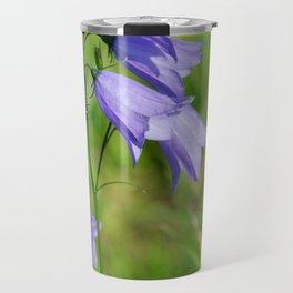 Violet blue Harebell Flower Travel Mug