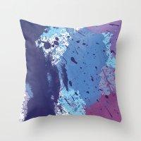 splatter Throw Pillows featuring Splatter by initiale