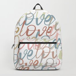 Love, Quote, Happy, Pattern Backpack