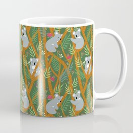 Koala bear pattern green Coffee Mug