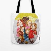 hero Tote Bags featuring Hero by Erika Meza