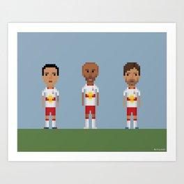 New Your Red Bulls trio Art Print