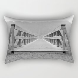 Uncle Tim's Bridge Straight On Black and White Rectangular Pillow