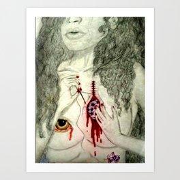 Healing My Amethyst Heart Art Print