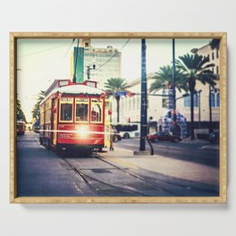New Orleans Streetcar Serving Tray
