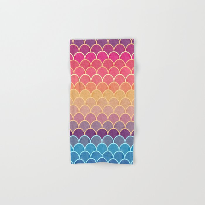 Watercolor Lovely Pattern VVIV Hand & Bath Towel