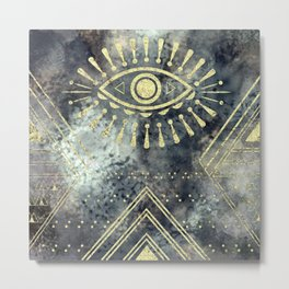Evil Eye Gold Metal Print