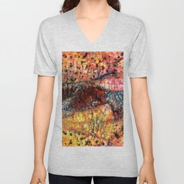 Sedimentary Rock Abstract Unisex V-Neck