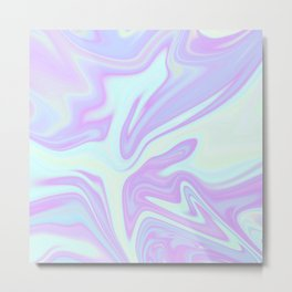Unicorn Goo Liquid Holographic Texture Metal Print