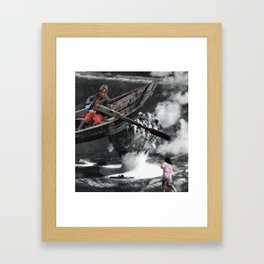Can we be excused Framed Art Print
