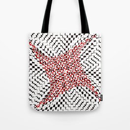 black white red 2 Tote Bag