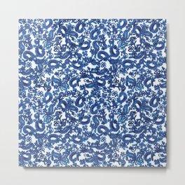 Blue Block Metal Print