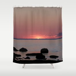 Last Sliver of Sun Light Shower Curtain