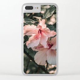 Hibiscus Flowers Clear iPhone Case
