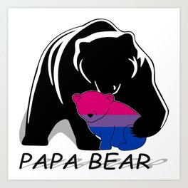Papa Bear Bisexual Art Print