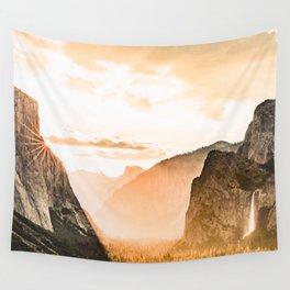 Yosemite Valley Burn - Sunrise Wall Tapestry