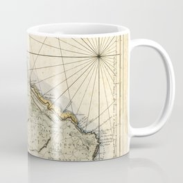 Map of Barbados 1758 Coffee Mug