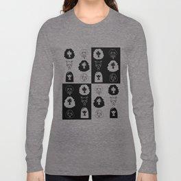 Girls' faces (black) Long Sleeve T-shirt