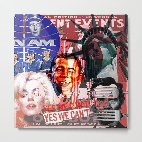 American Icon (Collage) Metal Print