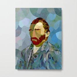 Curves - Autorretrato de Vincent van Gogh Metal Print