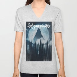Find your mountain Unisex V-Neck