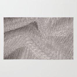 Sparkling metallic textile background Rug