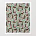 Irish Setter dog breed floral pattern gifts for dog lovers irish setters by petfriendly