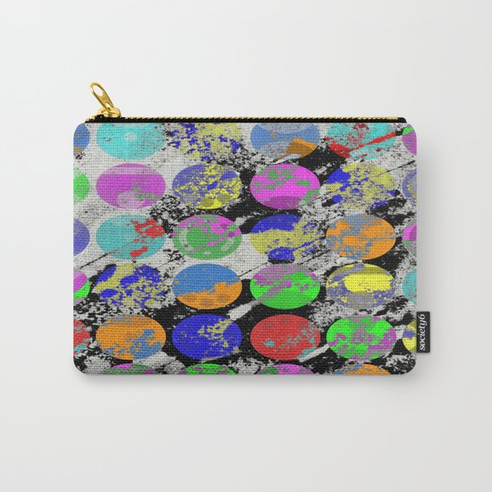 Textured Circles - Abstract, geometric, textured artwork Carry-All Pouch
