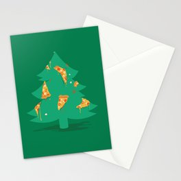 Merry Pizza Stationery Cards
