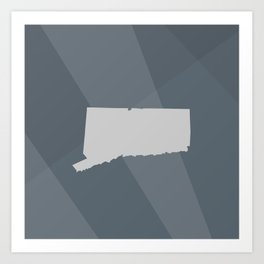 Connecticut State Art Print