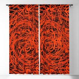 orange swirls Blackout Curtain