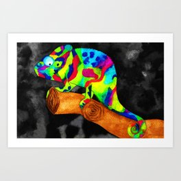 chameleon- camaleonte Art Print