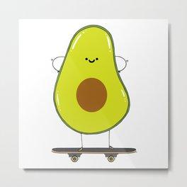 Avocado skater Metal Print